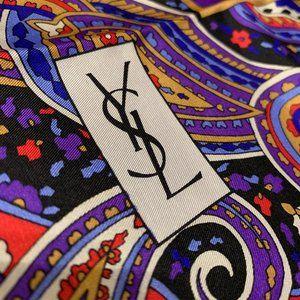 💗YSL Vintage Silk Scarf Yves Saint Laurent